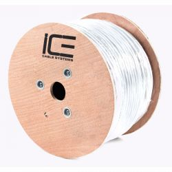 Ice Cable - RG-6 Dual Shield Plenum - 1000' Coaxial Cable (Spool)