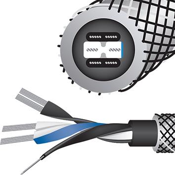 WireWorld Platinum Eclipse (PET) Tonearm Cable Inside