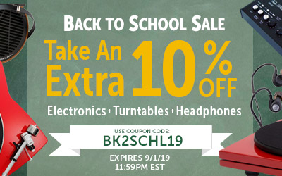 Take 10% off Most Electronics, Turntables and Headphones! Use code: BK2SCHL19 at checkout!