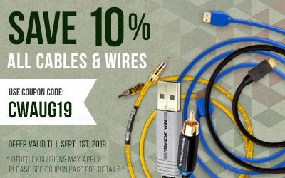 Take 10% off All Cables and Wires! Use coupon code CWSUM19 at checkout!