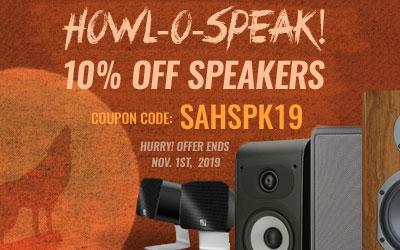 HOWL-O-SPEAK! Take 10% off Most Speakers Use code: SAHSPK9 at checkout!