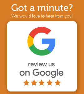 Got a minute? We would love to hear from you! Review us on Google