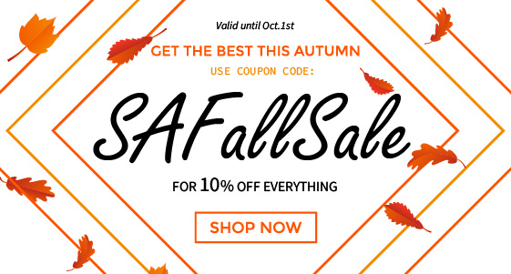 Take 10% off most items. Use Code: SAFALLSALE