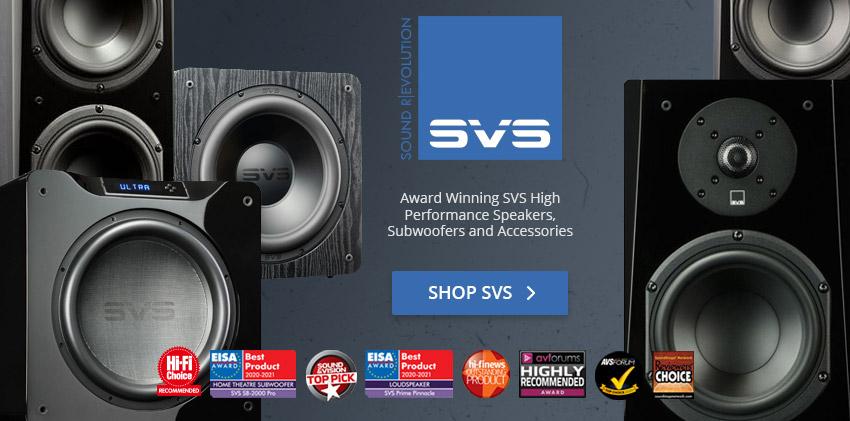 SVS Sound Revolution featuring Award Winning Speaker and Subwoofer! Shop SVS today!