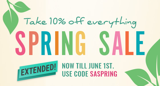 Spring is here! Take 10% off most items. Use Code: SASPRING