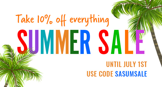 Take 10% off most items. Use Code: SASUMSALE