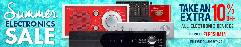 It's an Electric Summer! Take 10% off All Electronics! Use Coupon Code ELECSUM15 at checkout!