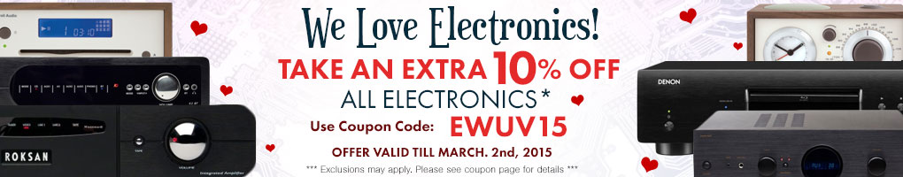 Take 10% off All Items Under the Electronics Category! Use Coupon Code EWUV15 at checkout!