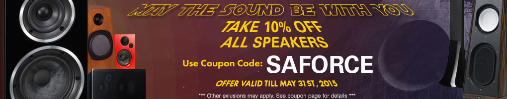 Take 10% off All Speakers! Use Coupon Code SAFORCE at checkout!