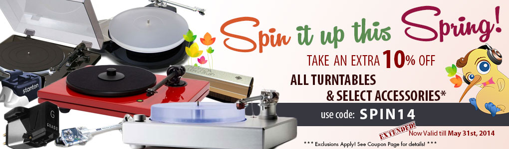 Spin it up this Spring! Get 10% off All Turntables & Select Accessories!
