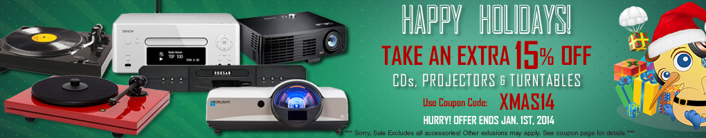 Happy Holidays! Happy Savings! Use Coupon Code XMAS14 for 15% off!