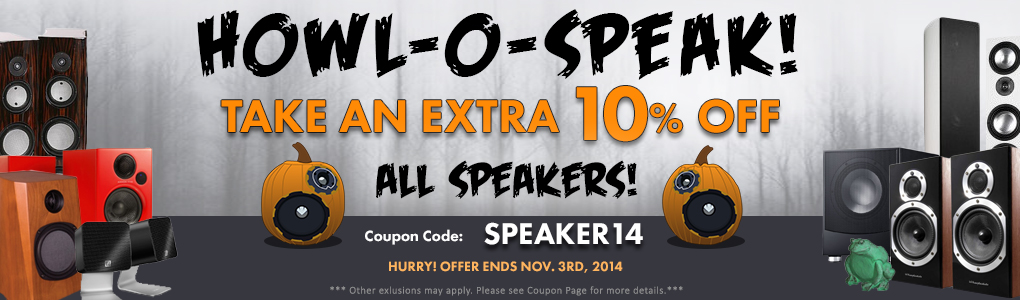 Turn Up the Scary with Awesome New Speakers! Use Coupon Code SPEAKER14 for 10% off!