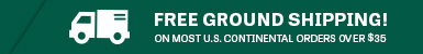 Free Ground Shipping on all Orders over $35!