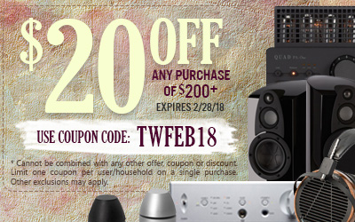 Get $20 off most purchases of $200 or more! Use coupon code TWFEB18 at checkout!
