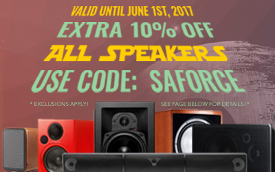 Take 10% off Speakers! Use code: SAFORCE at checkout!
