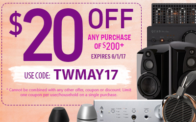 Get $20 off any purchase of $200 or more! Use coupon code TWMAY17 at checkout!