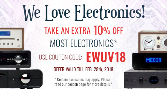 Take 10% off Electronics! Use coupon code: EWUV18 at checkout!