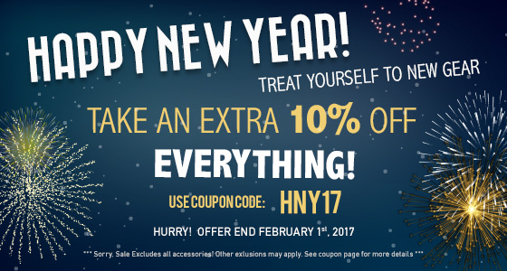 Take 10% off Everything! Use coupon code: HNY17 at checkout!