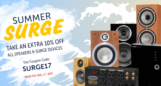 Take 10% off Electronics! Use coupon code: SURGE17 at checkout!