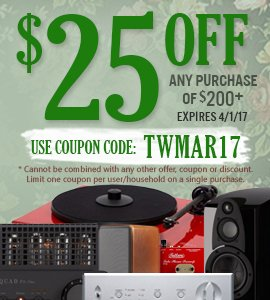 Get $25 on any orders of $250 or more! Use coupon code: TWMAR17 at checkout!
