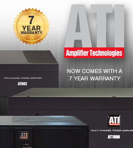 Check out ATI Amplifiers with their New 7 Year Warranty!