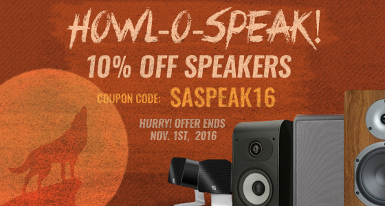 Howl-O-Speak! Save 10% off ALL SPEAKERS! Use coupon code: SASPEAK16 at checkout.