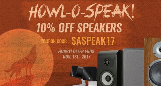 Take 10% off Speakers! Use coupon code: SASPEAK17 at checkout!