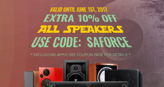 Take 10% off Speakers! Use coupon code: SAFORCE at checkout!