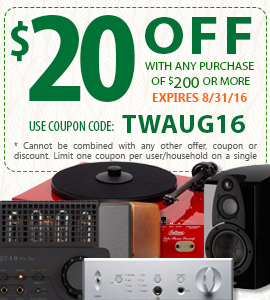 Get $20 off any purchase of $200 or more! Use coupon code: TWAUG16 at checkout!