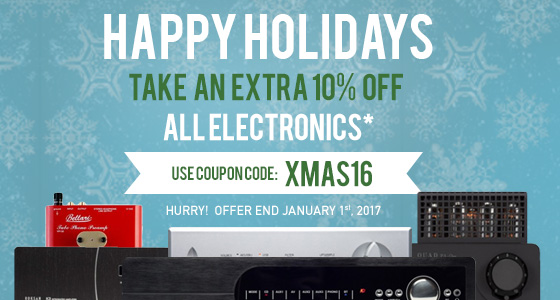 Happy Holidays! Take 10% off All Electronics! Use code: XMAS16 at checkout!