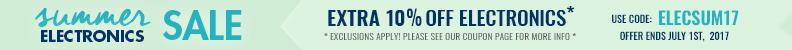 TAKE AN EXTRA 10% OFF ELECTRONICS* Use code ELECSUM17!